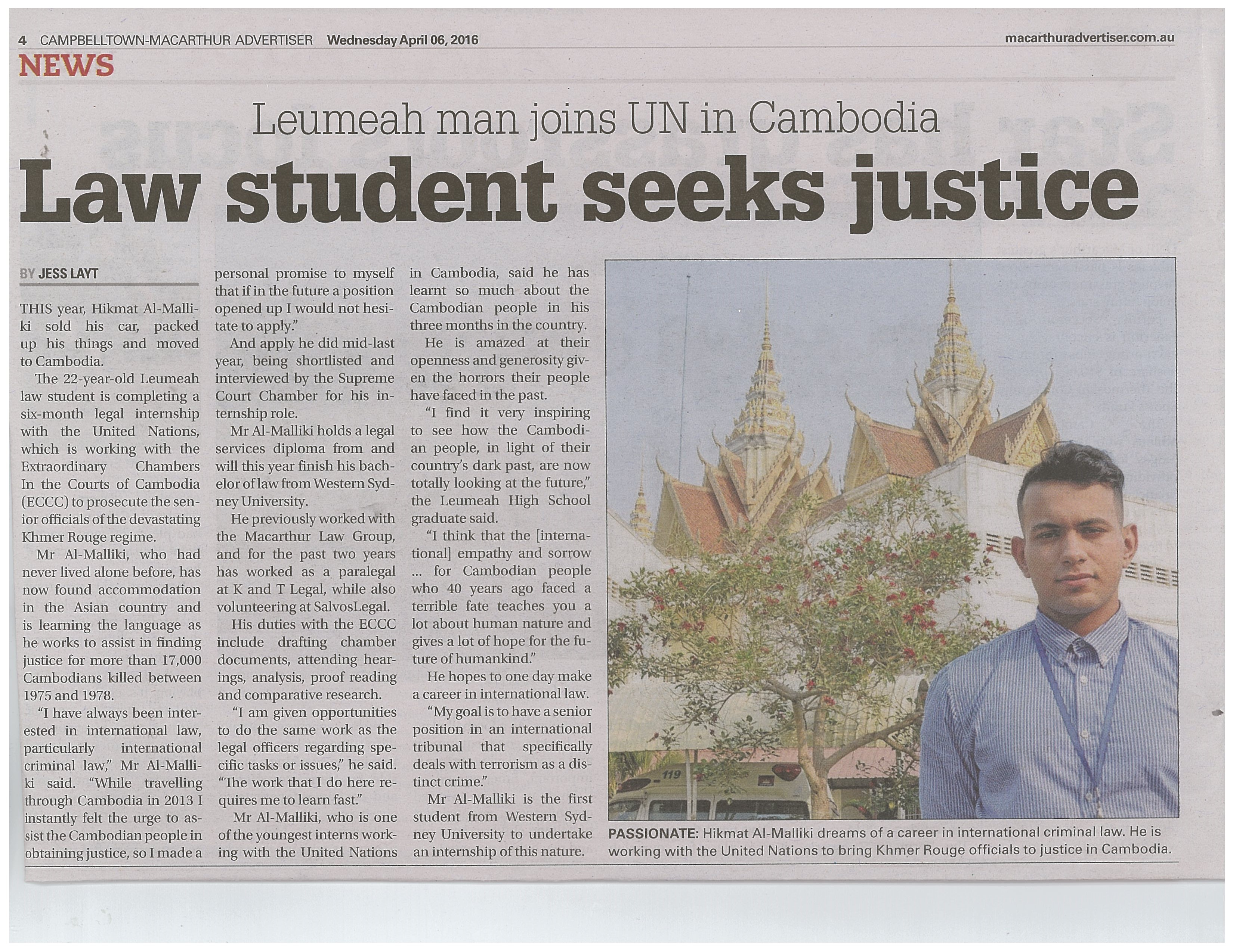 Alumni Students Excels at Law